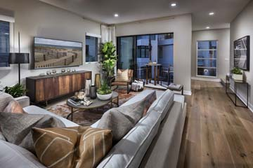 Great Room/Deck Residence 1 | The Collection at Playa Vista in Los Angeles, CA | Brookfield Residential
