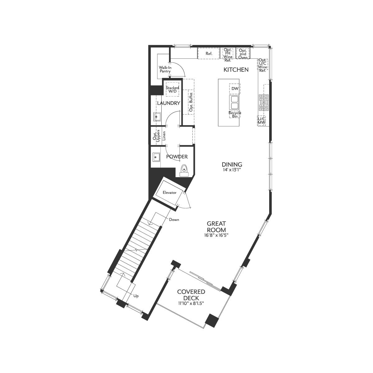 Residence 1X Floor 2 Floor Plan | The Collection at Playa Vista in Los Angeles, CA | Brookfield Residential