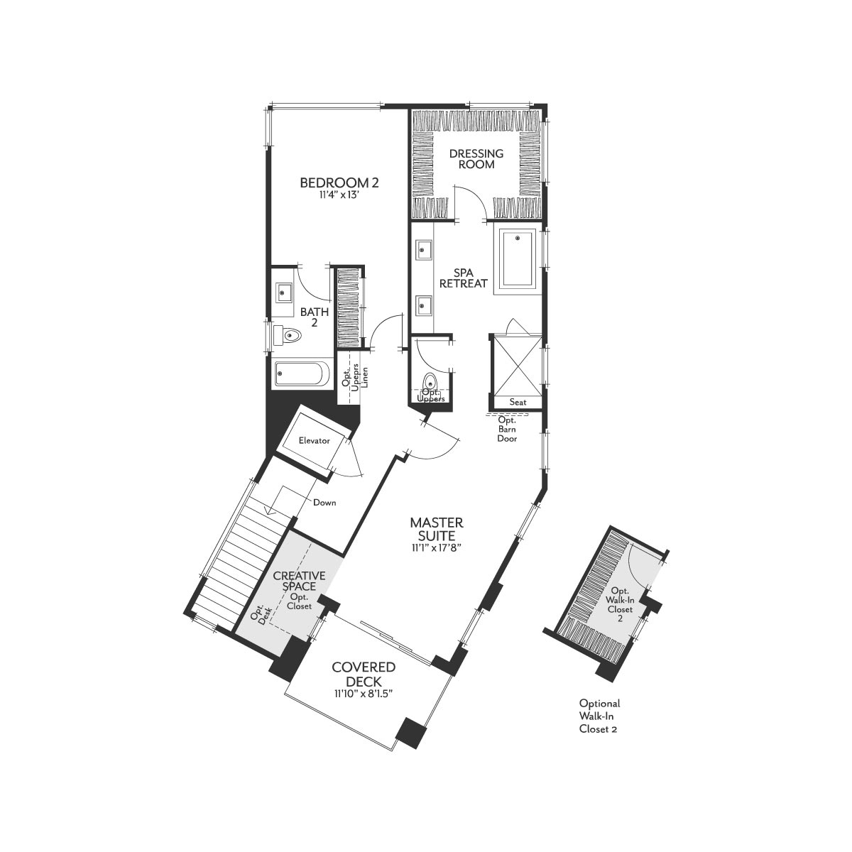 Residence 1X Floor 3 Floor Plan | The Collection at Playa Vista in Los Angeles, CA | Brookfield Residential