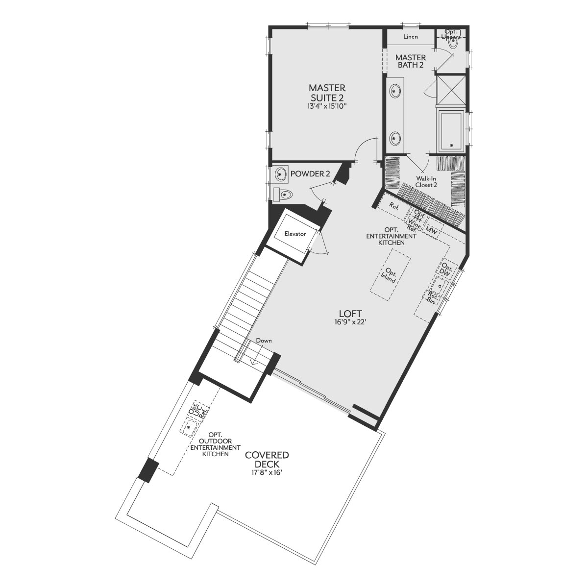 Residence 2 Floor 3 Floor Plan | The Collection at Playa Vista in Los Angeles, CA | Brookfield Residential