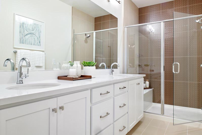 Residence 1 Bathroom | Fillmore at Boulevard in Dublin, CA | Brookfield Residential