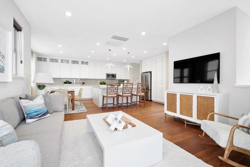 Residence 1 Living Room to Kitchen | Fillmore at Boulevard in Dublin, CA | Brookfield Residential