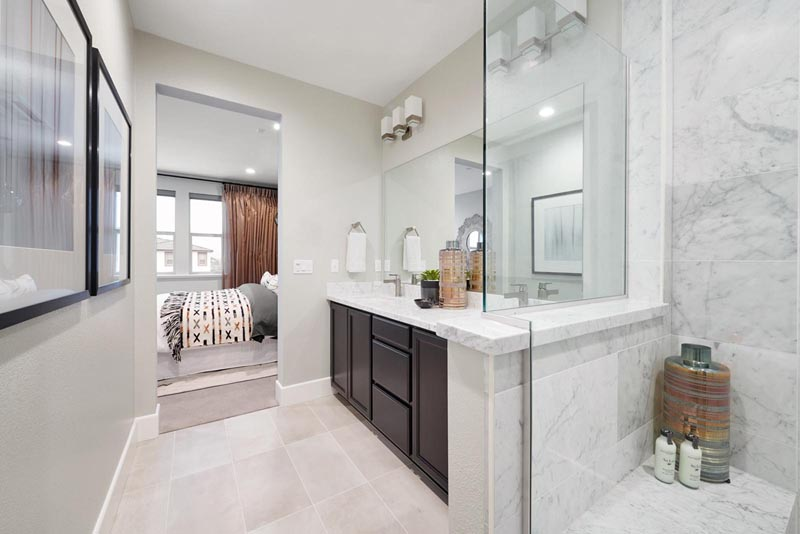 Residence 2 Bathroom | Fillmore at Boulevard in Dublin, CA | Brookfield Residential