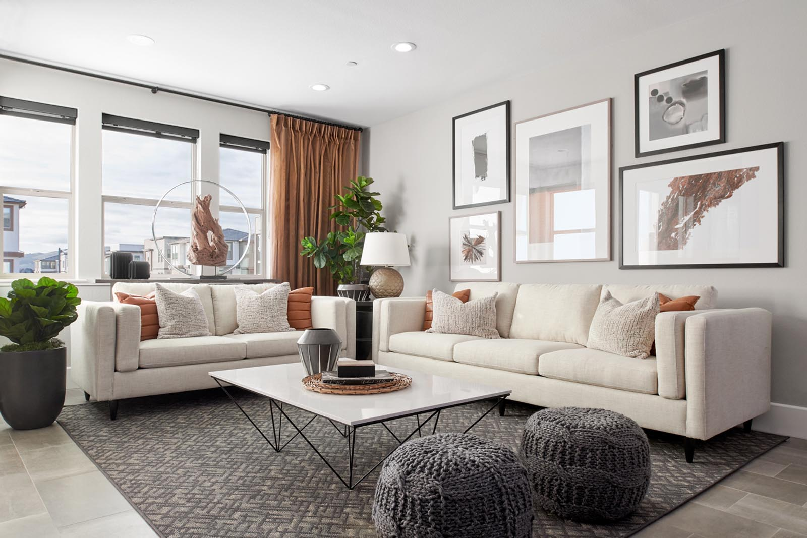 Residence 2 Living Room | Fillmore at Boulevard in Dublin, CA | Brookfield Residential