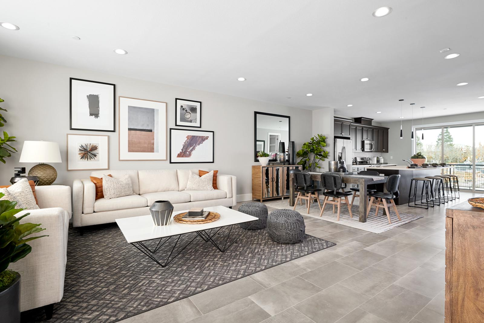 Residence 2 Living Room to Kitchen | Fillmore at Boulevard in Dublin, CA | Brookfield Residential