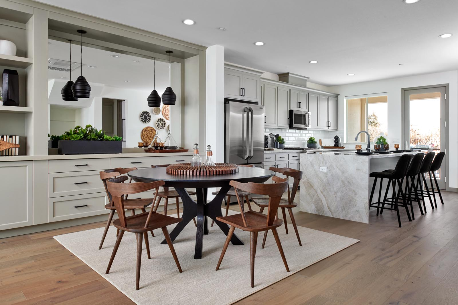 Residence 3 Dining Room to Kitchen | Fillmore at Boulevard in Dublin, CA | Brookfield Residential