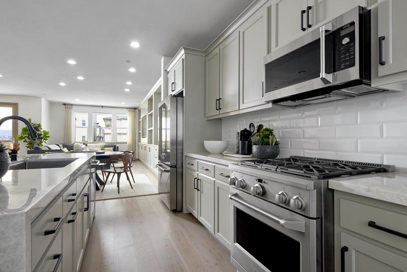 Residence 3 Kitchen | Fillmore at Boulevard in Dublin, CA | Brookfield Residential