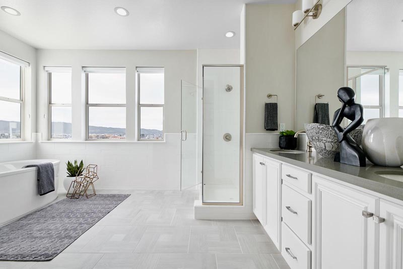 Residence 4 Bathroom | Fillmore at Boulevard in Dublin, CA | Brookfield Residential