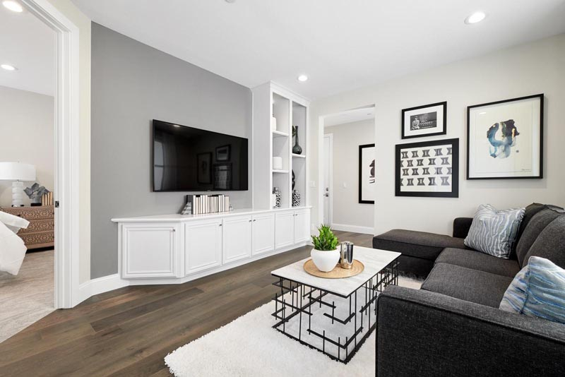 Residence 4 Family Room | Fillmore at Boulevard in Dublin, CA | Brookfield Residential