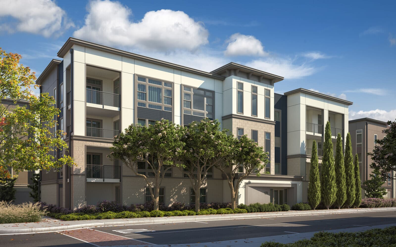 Exterior Rendering Option 1 | Hyde Park at Boulevard in Dublin, CA | Brookfield Residential