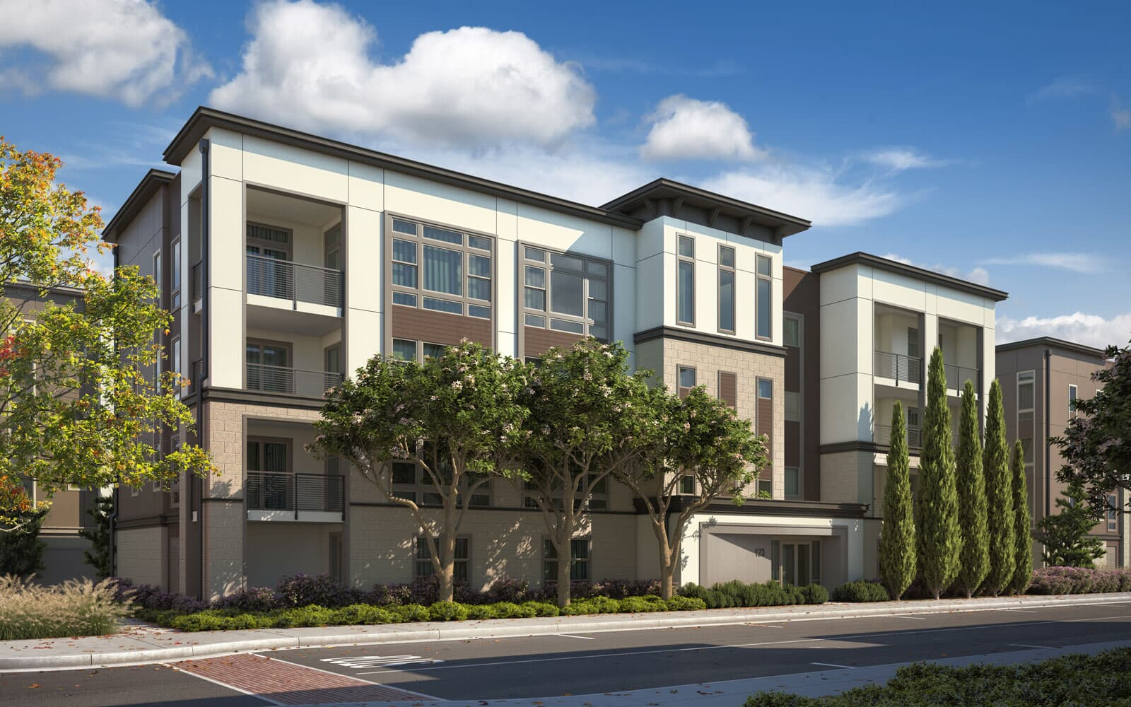 Exterior Rendering Option 2 | Hyde Park at Boulevard in Dublin, CA | Brookfield Residential