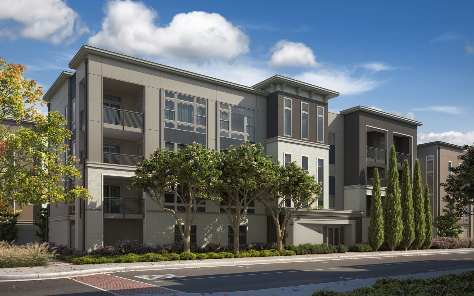 Exterior Rendering Option 3 | Hyde Park at Boulevard in Dublin, CA | Brookfield Residential