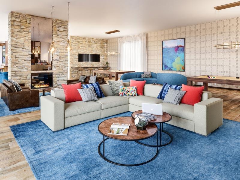Rec Center Living Room | Boulevard in Dublin, CA | Brookfield Residential