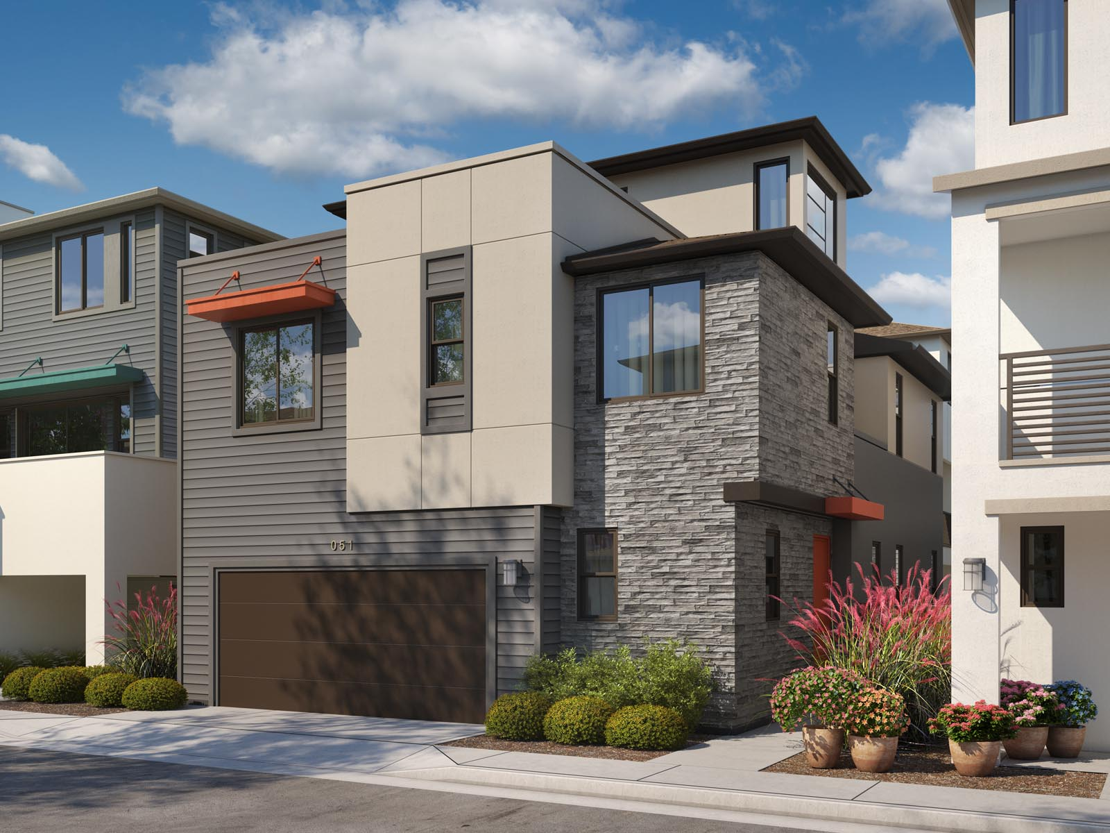 Residence 1A Exterior | Mulholland at Boulevard in Dublin, CA | Brookfield Residential