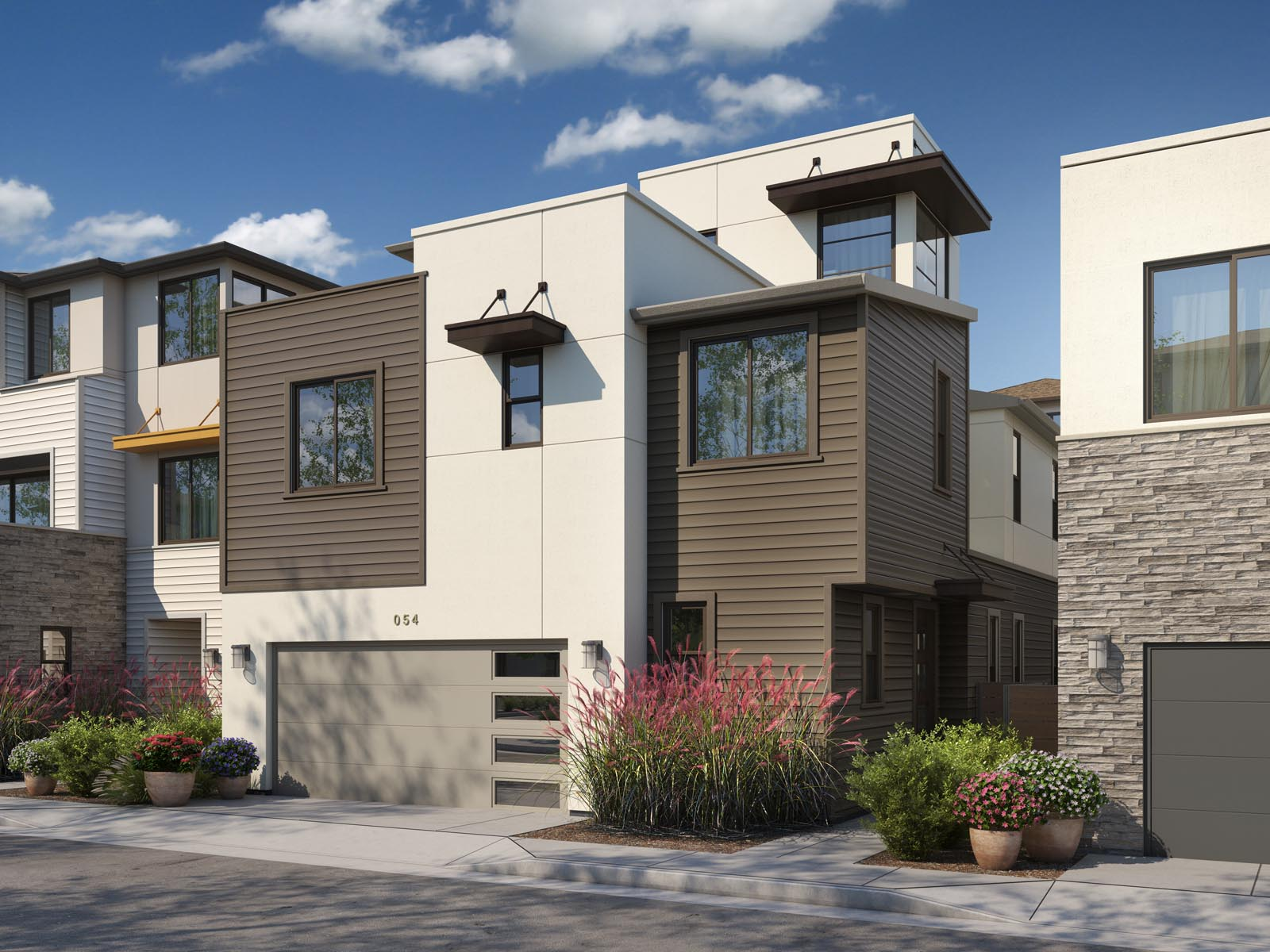 Residence 1B Exterior | Mulholland at Boulevard in Dublin, CA | Brookfield Residential