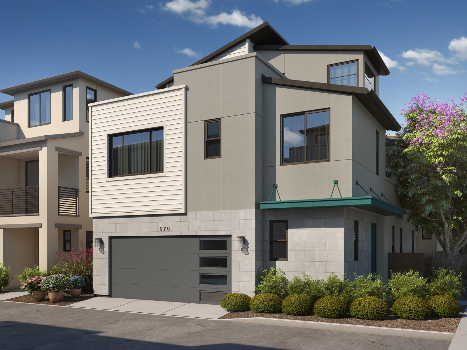 Residence 1C Exterior | Mulholland at Boulevard in Dublin, CA | Brookfield Residential