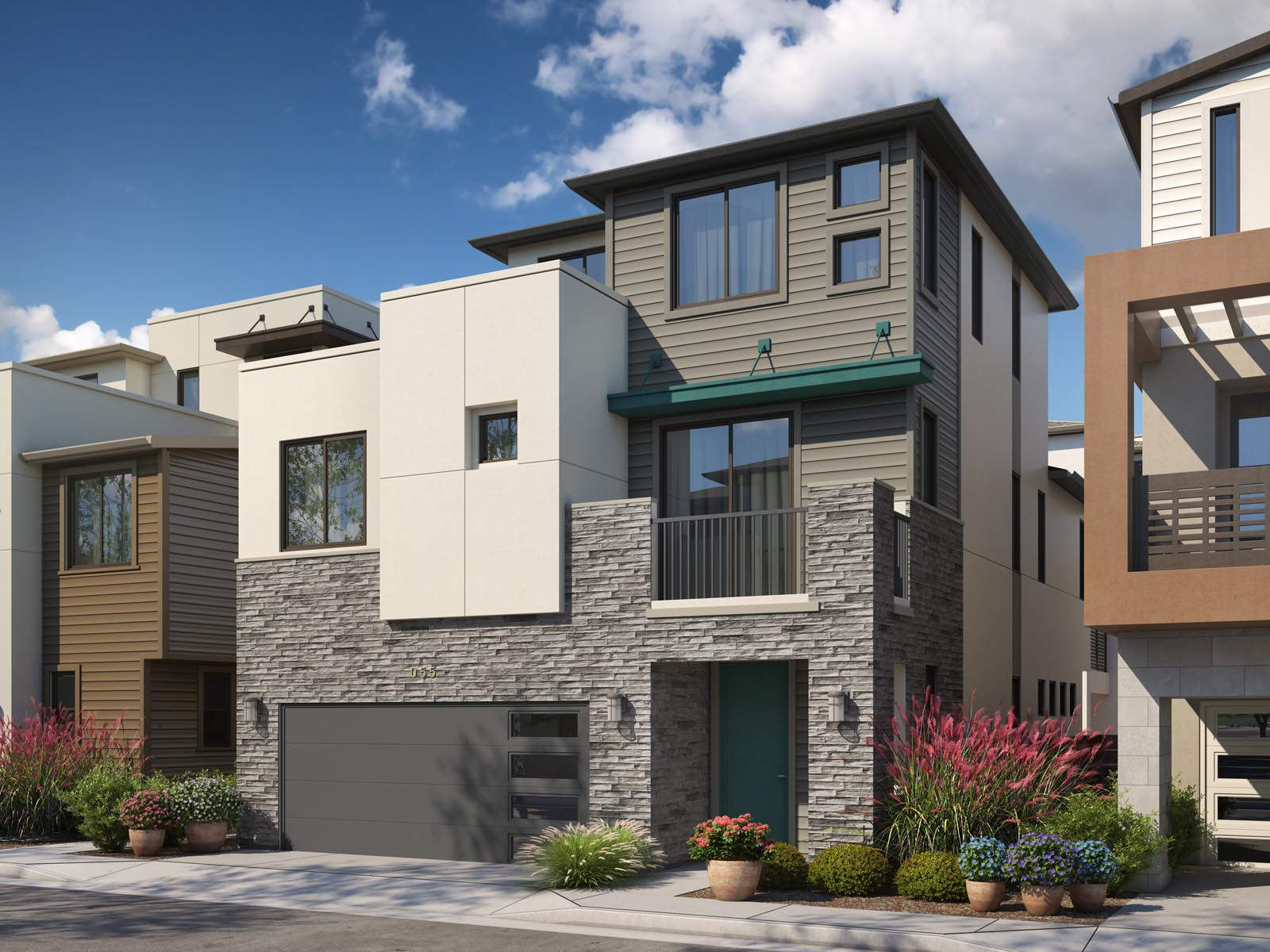 Residence 2A Exterior | Mulholland at Boulevard in Dublin, CA | Brookfield Residential