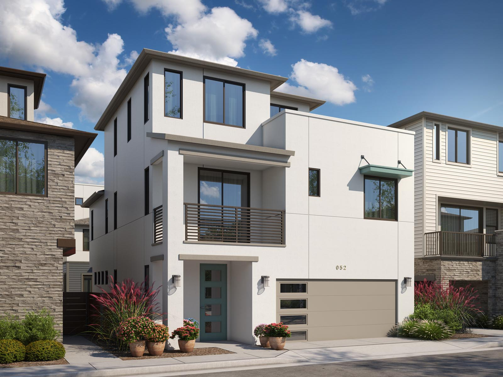 Residence 2B Exterior | Mulholland at Boulevard in Dublin, CA | Brookfield Residential
