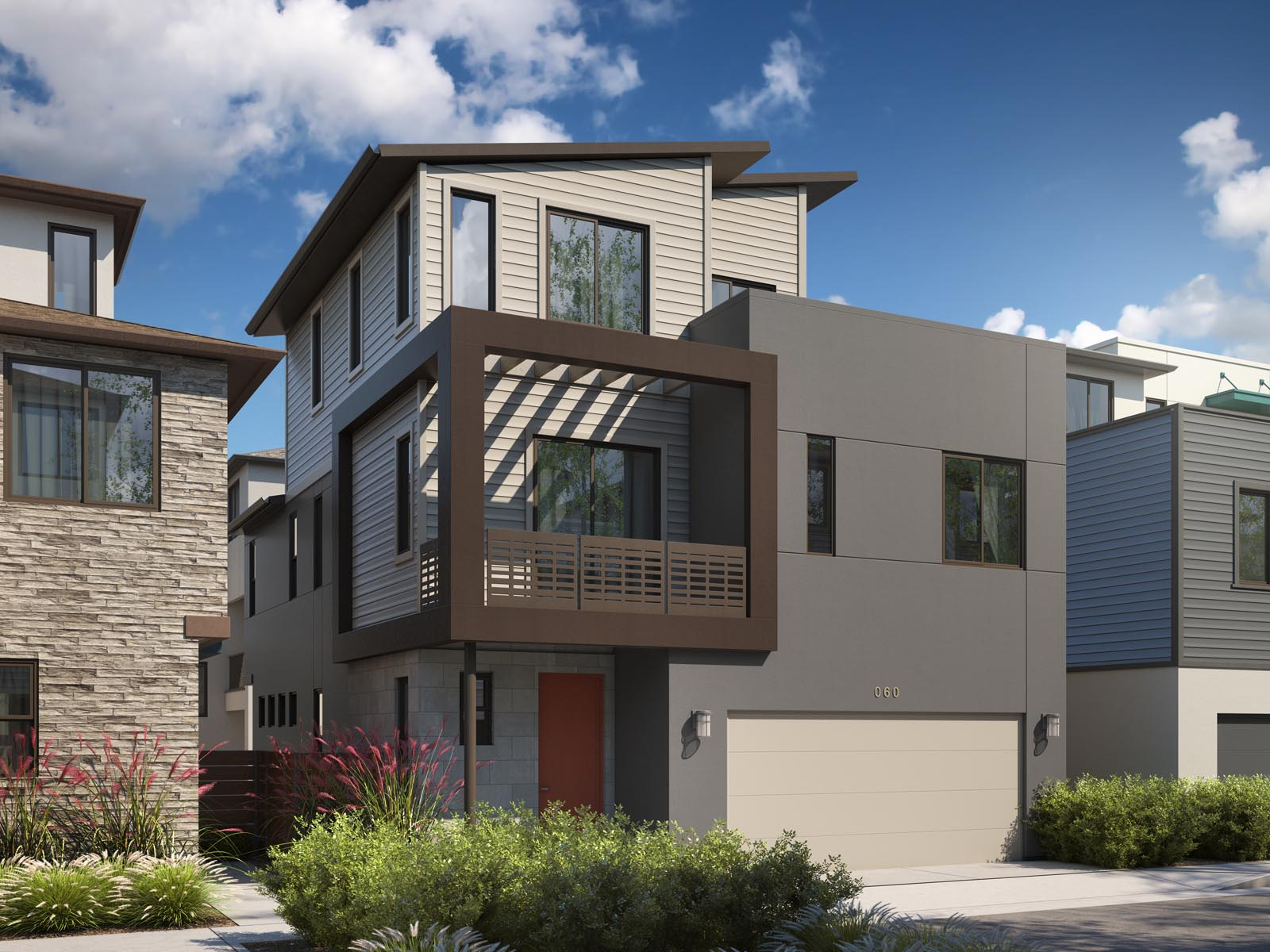 Residence 2C Exterior | Mulholland at Boulevard in Dublin, CA | Brookfield Residential