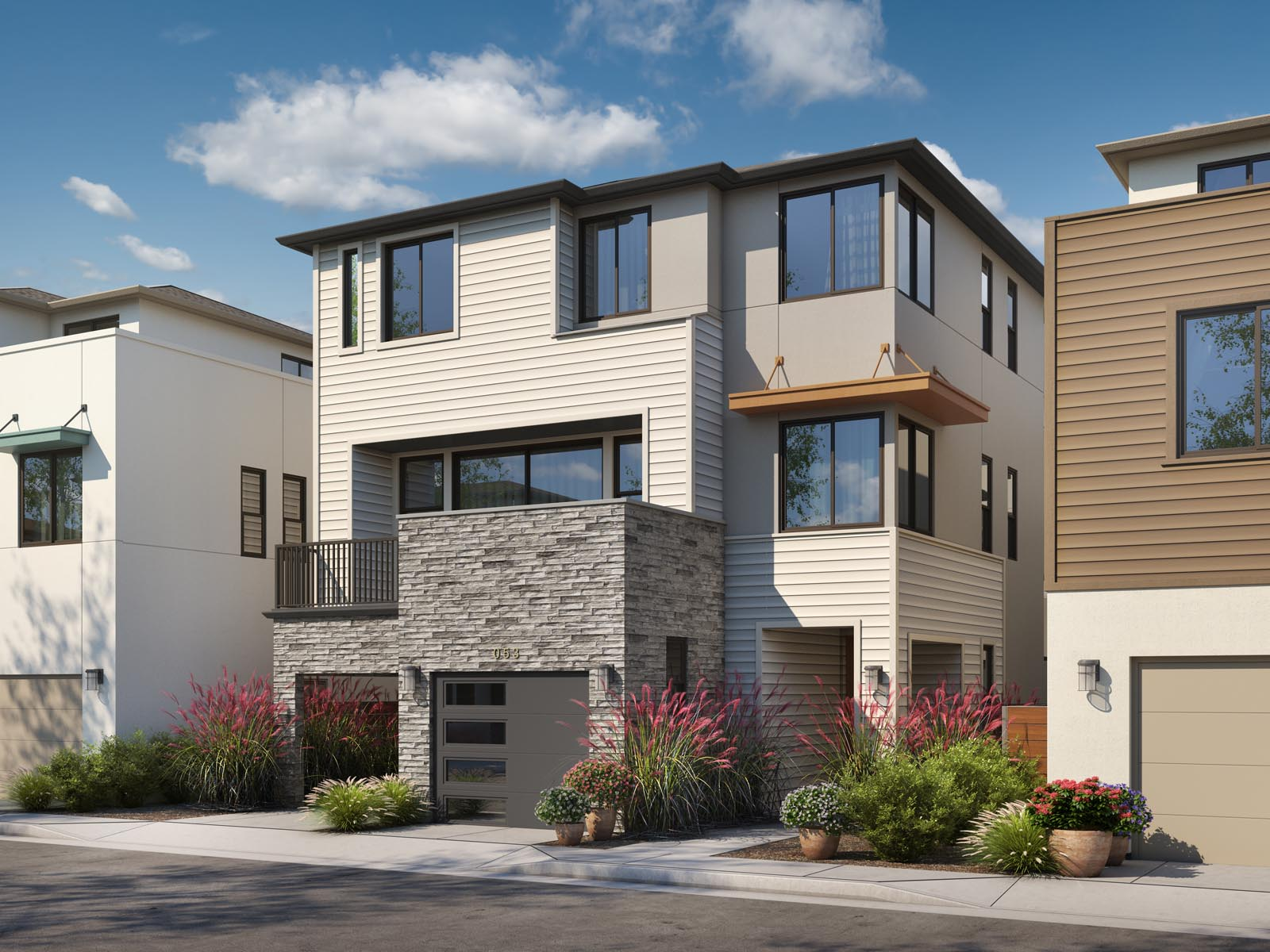 Residence 3A Exterior | Mulholland at Boulevard in Dublin, CA | Brookfield Residential
