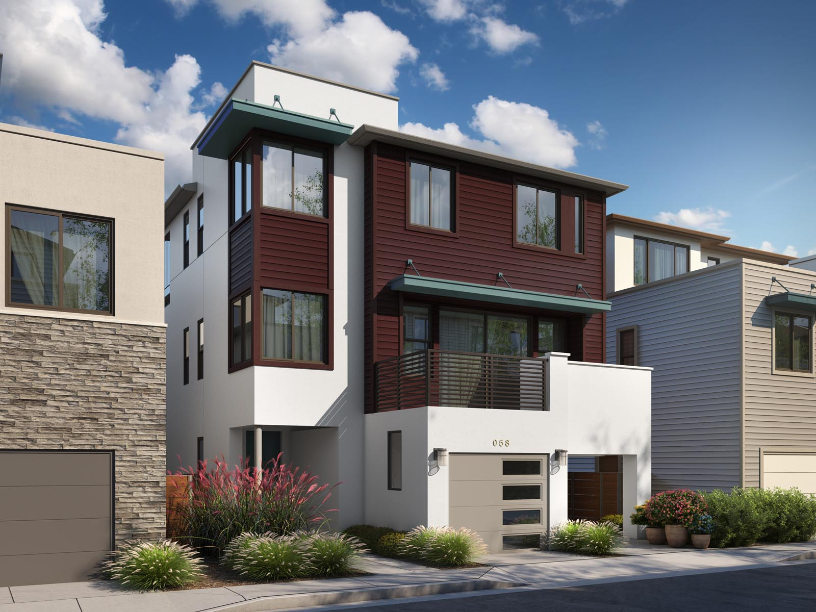 Residence 3B Exterior | Mulholland at Boulevard in Dublin, CA | Brookfield Residential