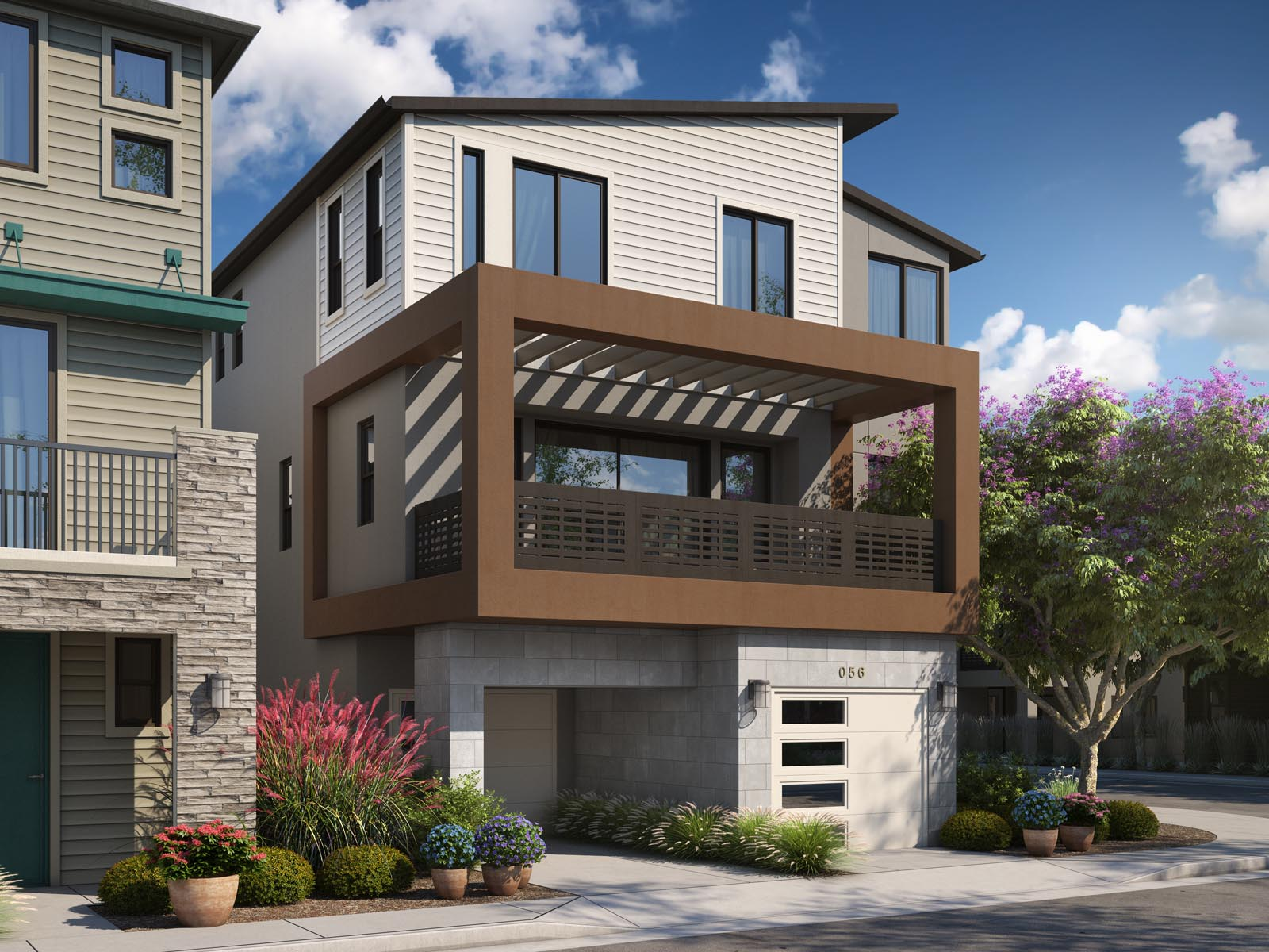 Residence 3C Exterior | Mulholland at Boulevard in Dublin, CA | Brookfield Residential