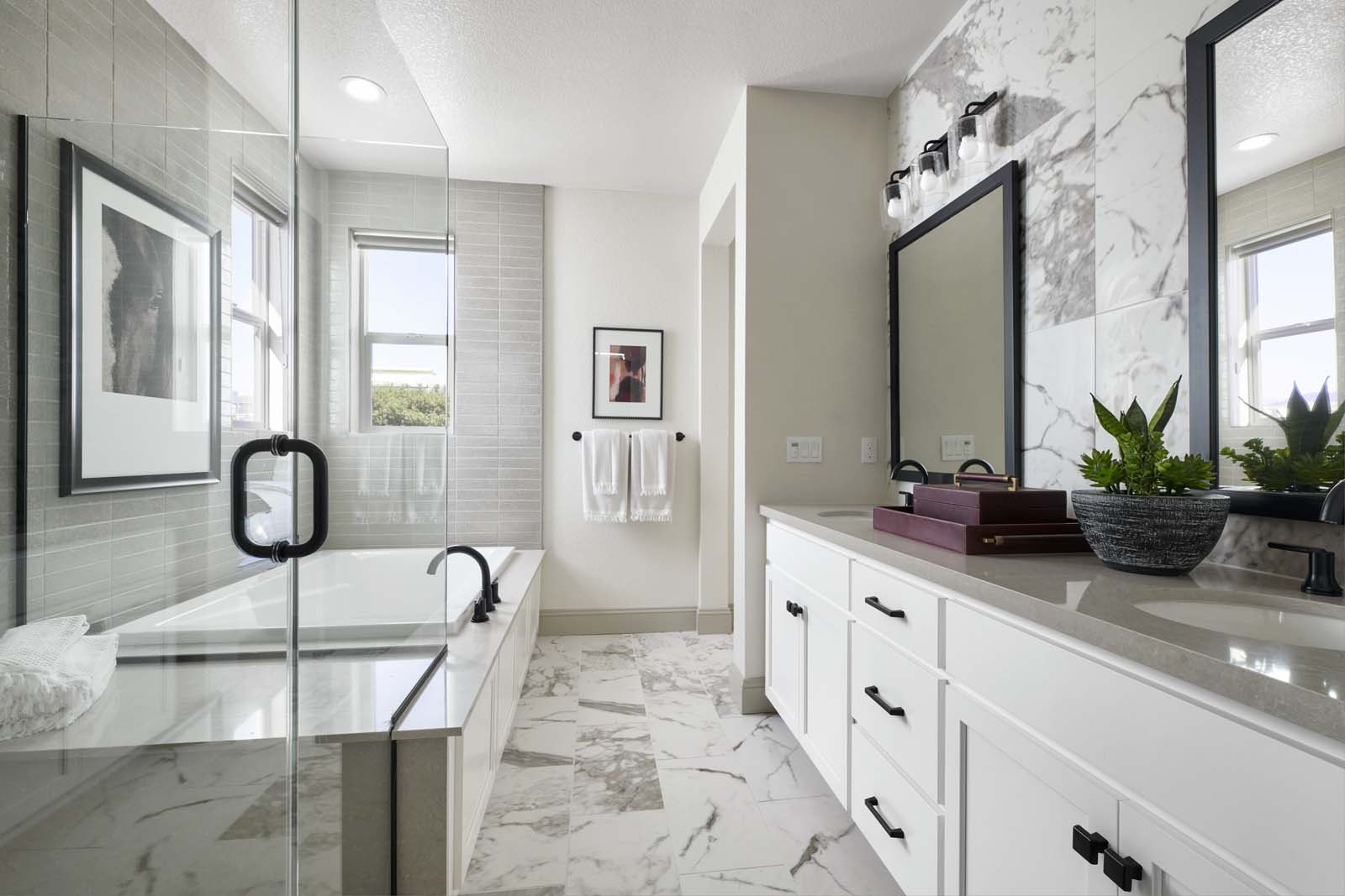Residence 1 Master Bath | Mulholland at Boulevard in Dublin, CA | Brookfield Residential