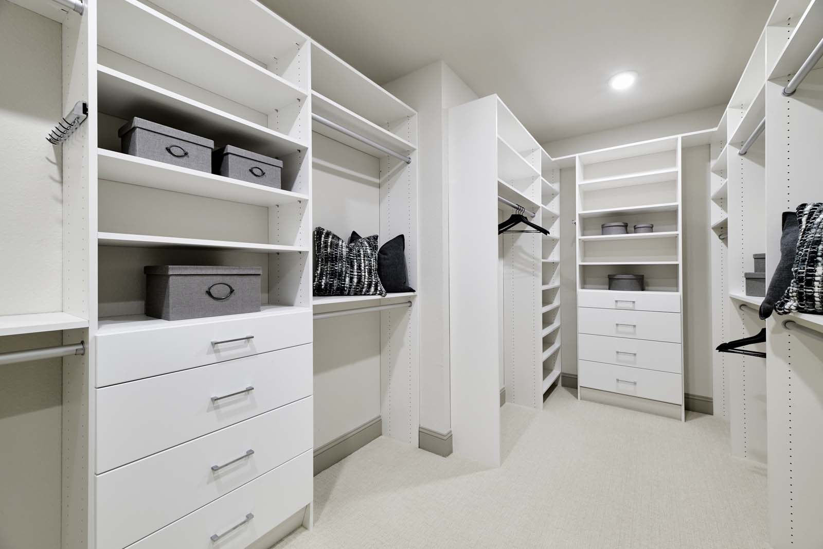 Residence 1 Walk-In Closet | Mulholland at Boulevard in Dublin, CA | Brookfield Residential