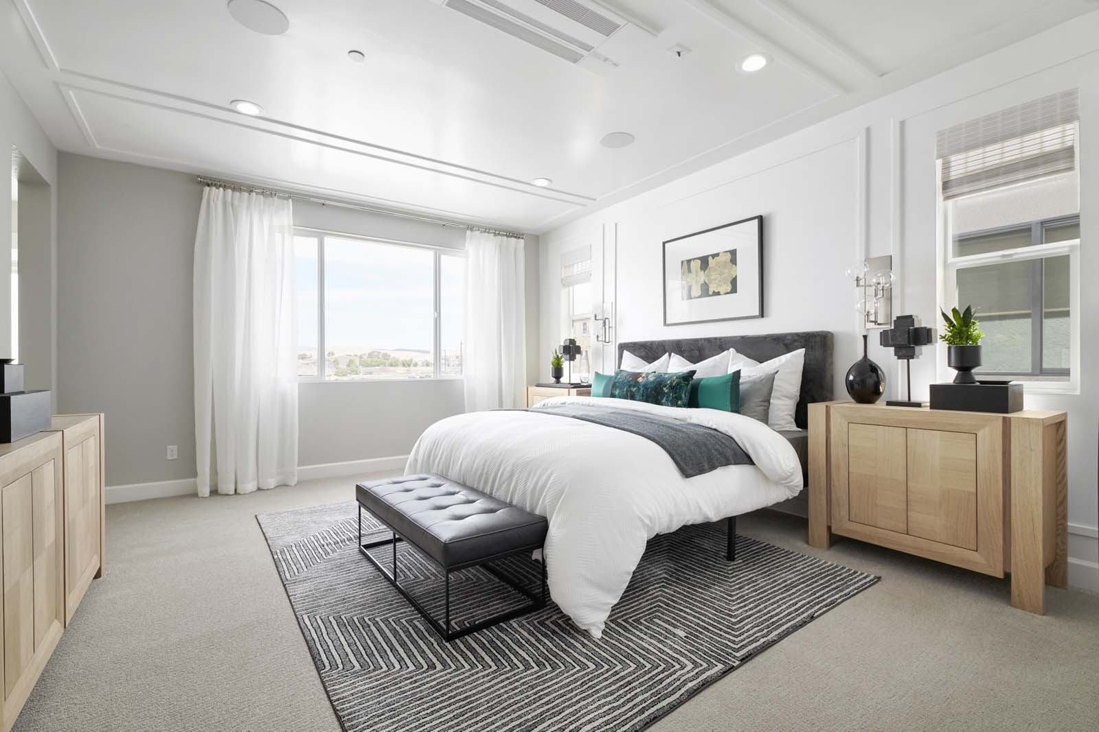Residence 2 Master Bedroom | Mulholland at Boulevard in Dublin, CA | Brookfield Residential