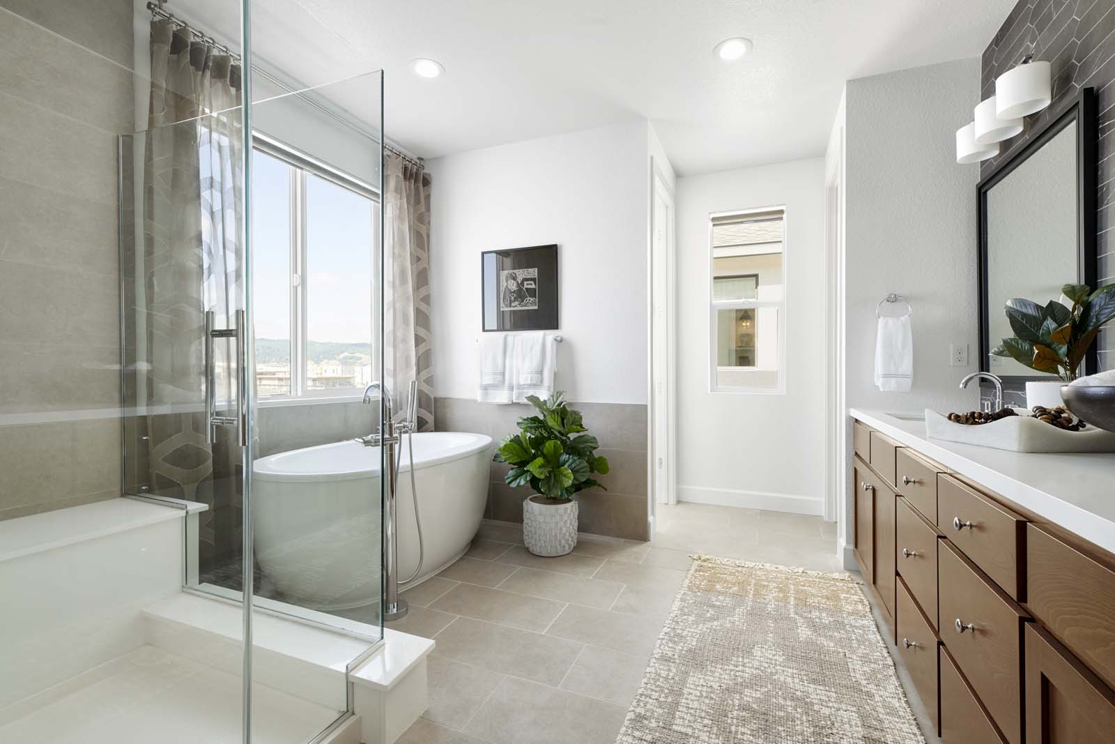 Residence 3 Master Bath Mulholland at Boulevard in Dublin CA Brookfield Residential