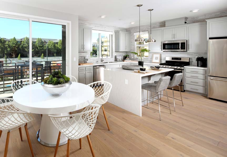 Residence 1 Kitchen and Dining Room | WIlshire at Boulevard in Dublin, CA | Brookfield Residential