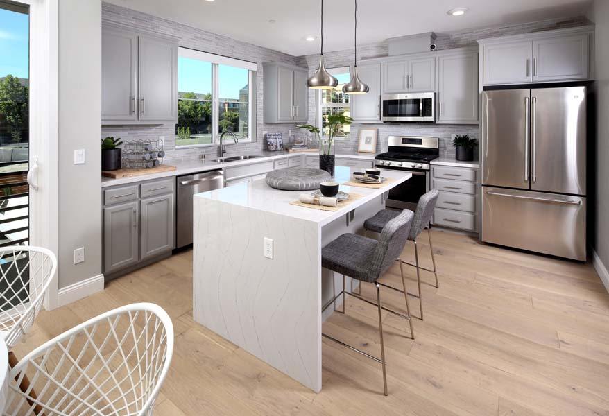 Residence 1 Kitchen | WIlshire at Boulevard in Dublin, CA | Brookfield Residential