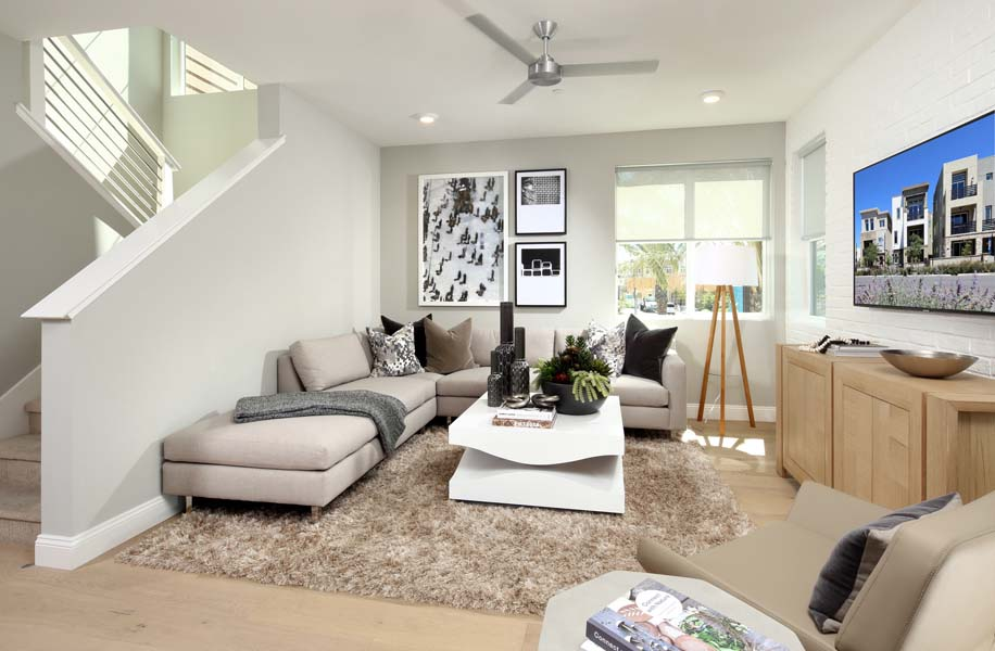 Residence 1 Living Room | WIlshire at Boulevard in Dublin, CA | Brookfield Residential