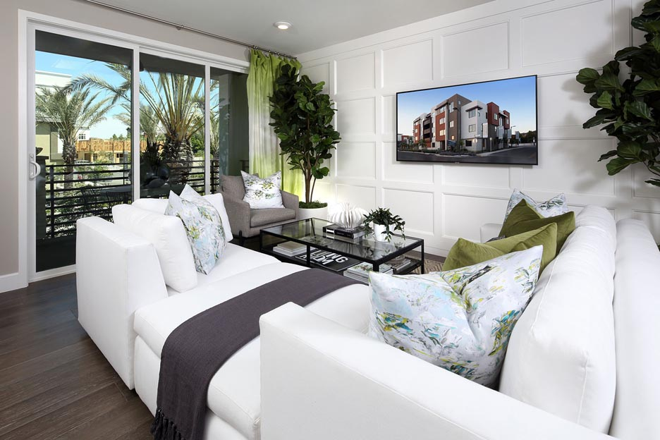 Residence 2A Living Room | Wilshire at Boulevard in Dublin, CA | Brookfield Residential