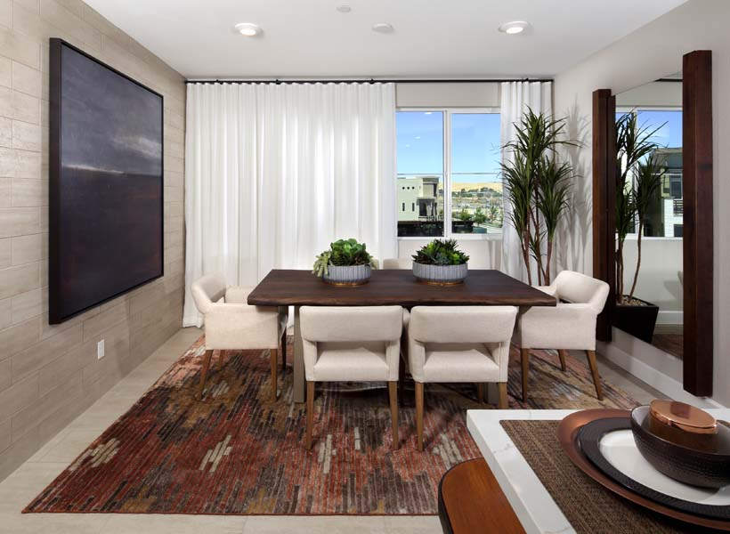 Residence 6 Dining Room | Wilshire at Boulevard i n Dublin, CA | Brookfield Residential