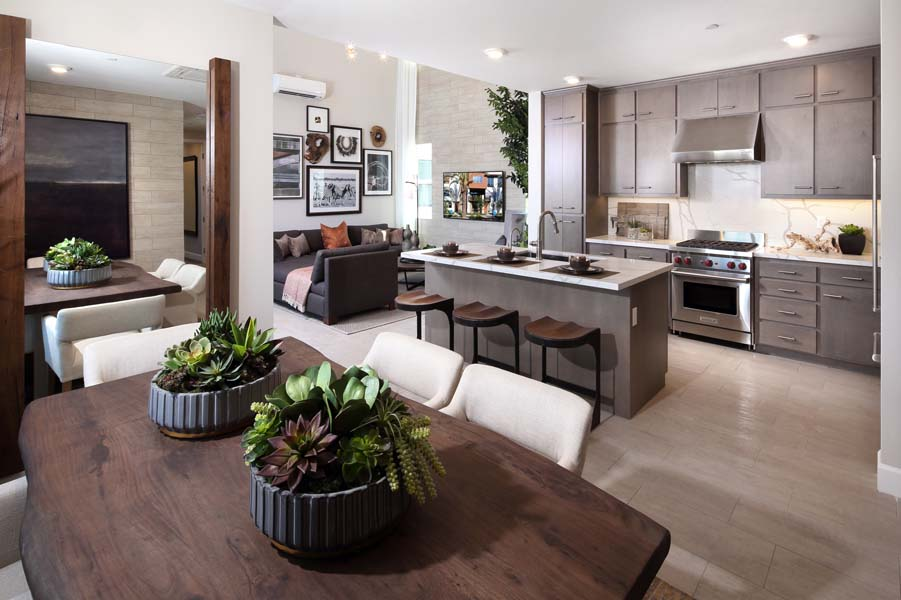Residence 6 Dining Room and Kitchen | Wilshire at Boulevard i n Dublin, CA | Brookfield Residential