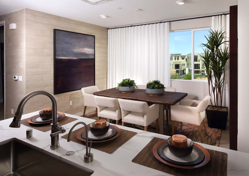 Residence 6 Kitchen and Dining Room | Wilshire at Boulevard i n Dublin, CA | Brookfield Residential
