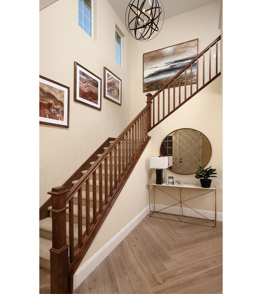 Entry Stairs Residence 1 Easton at Delaney Park in Oakley CA Brookfield Residential