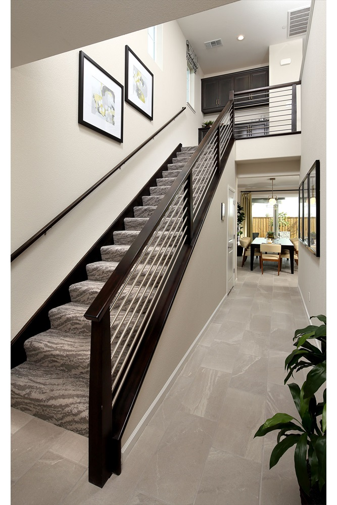Entry Stairs | Residence 3 | Easton at Delaney Park in Oakley, CA | Brookfield Residential