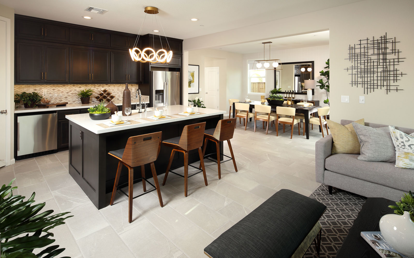 Great Room to Kitchen | Residence 3 | Easton at Delaney Park in Oakley, CA | Brookfield Residential