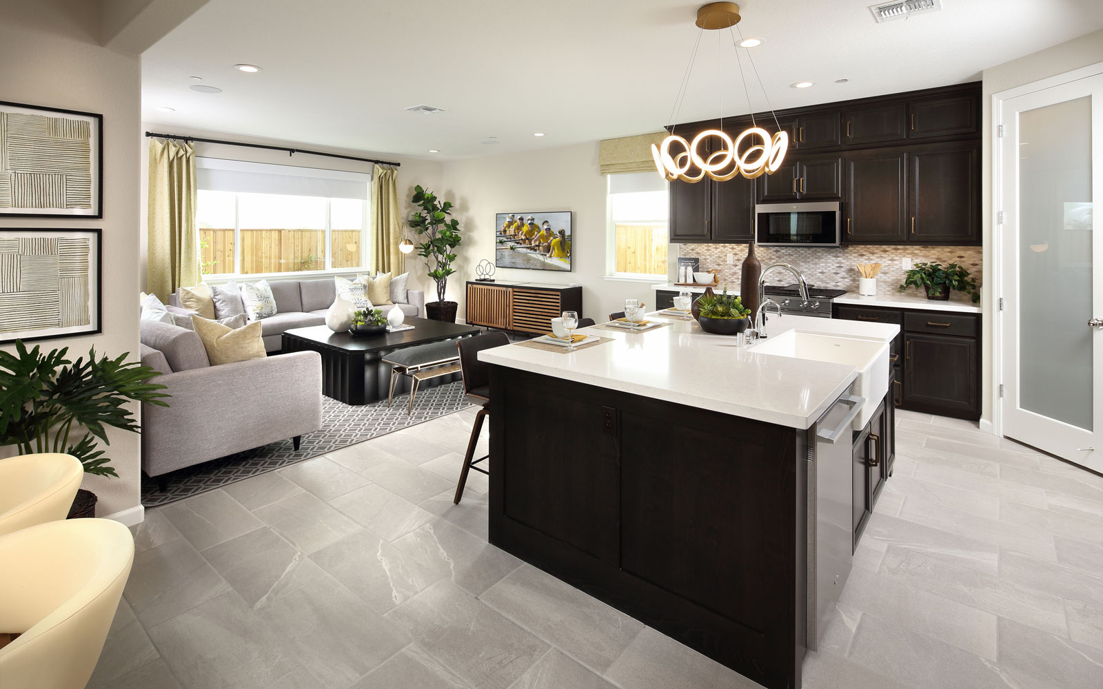 Kitchen to Great Room | Residence 3 | Easton at Delaney Park in Oakley, CA | Brookfield Residential