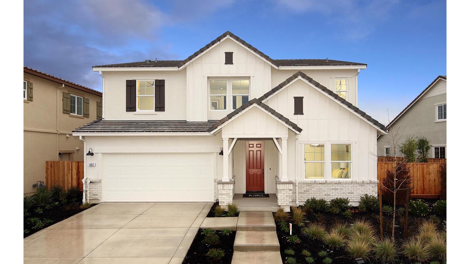 Exterior 2 Southport Delaney Park New homes in Oakley CA Brookfield Residential