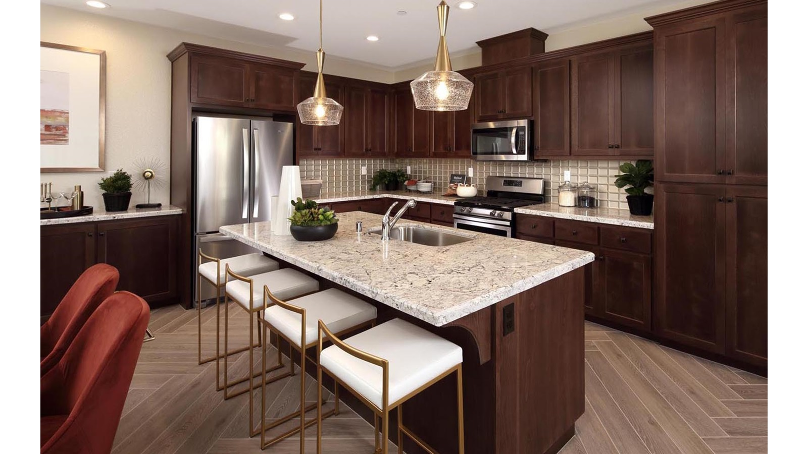 Kitchen Residence 1 Easton Delaney Park New homes in Oakley CA Brookfield Residential
