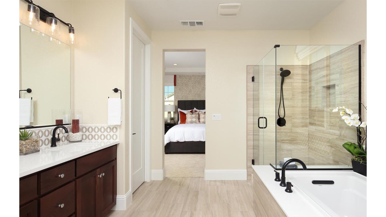 Master Bathroom Residence 1 Easton Delaney Park New homes in Oakley CA Brookfield Residential