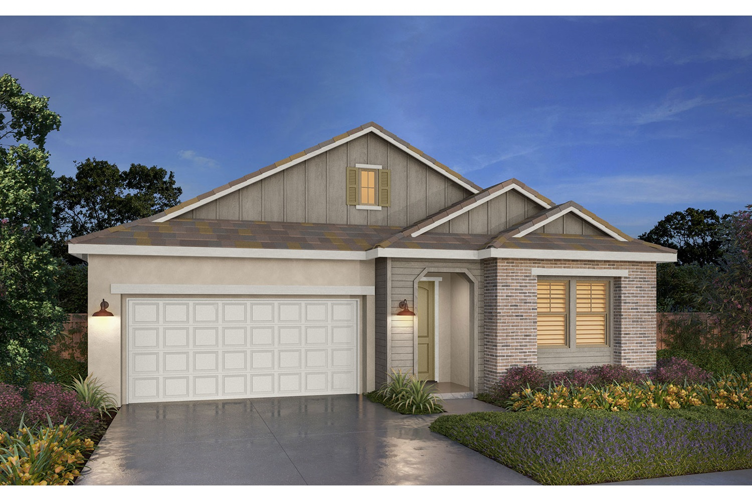 Rendering 1A Southport New Homes in Oakley CA Brookfield Residential