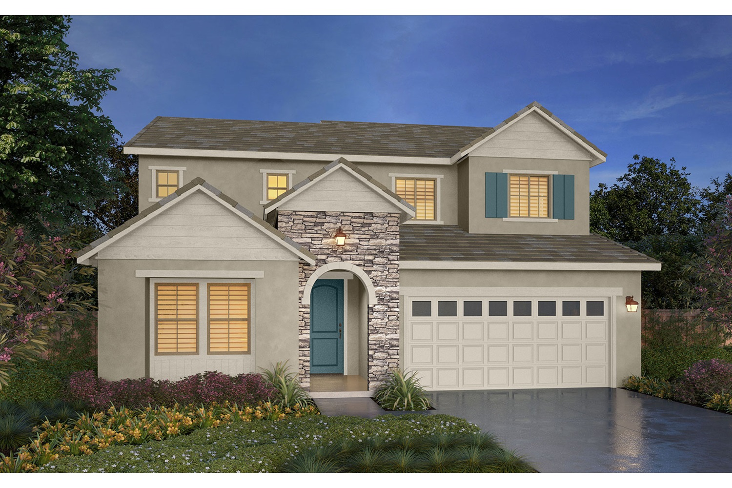 Rendering 3B Southport New Homes in Oakley CA Brookfield Residential