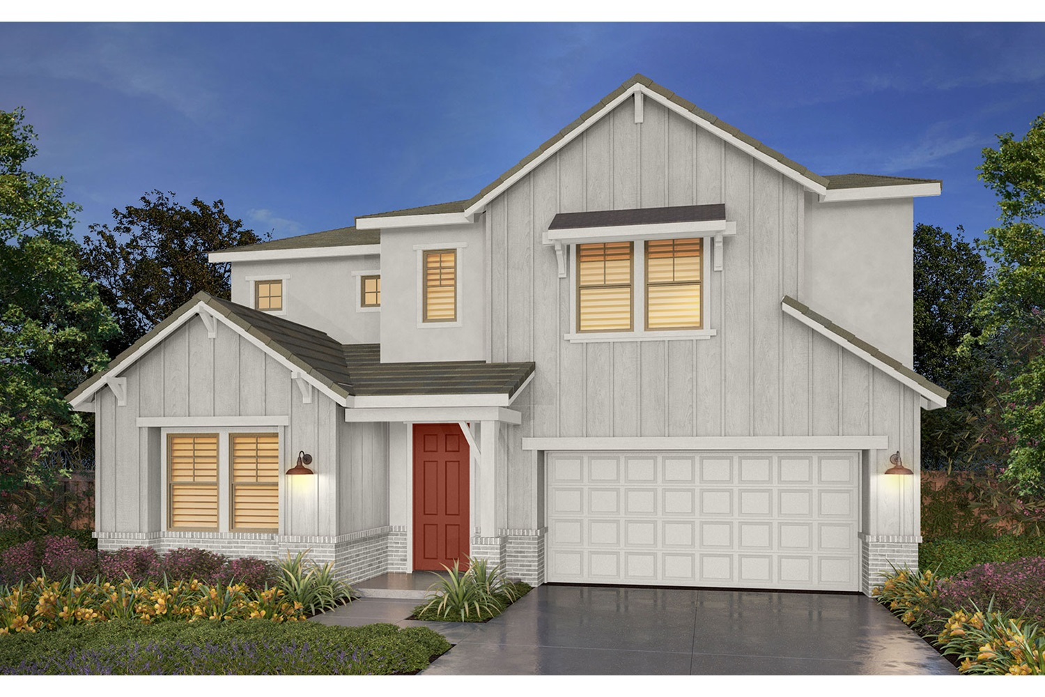 Rendering 5A Southport New Homes in Oakley CA Brookfield Residential
