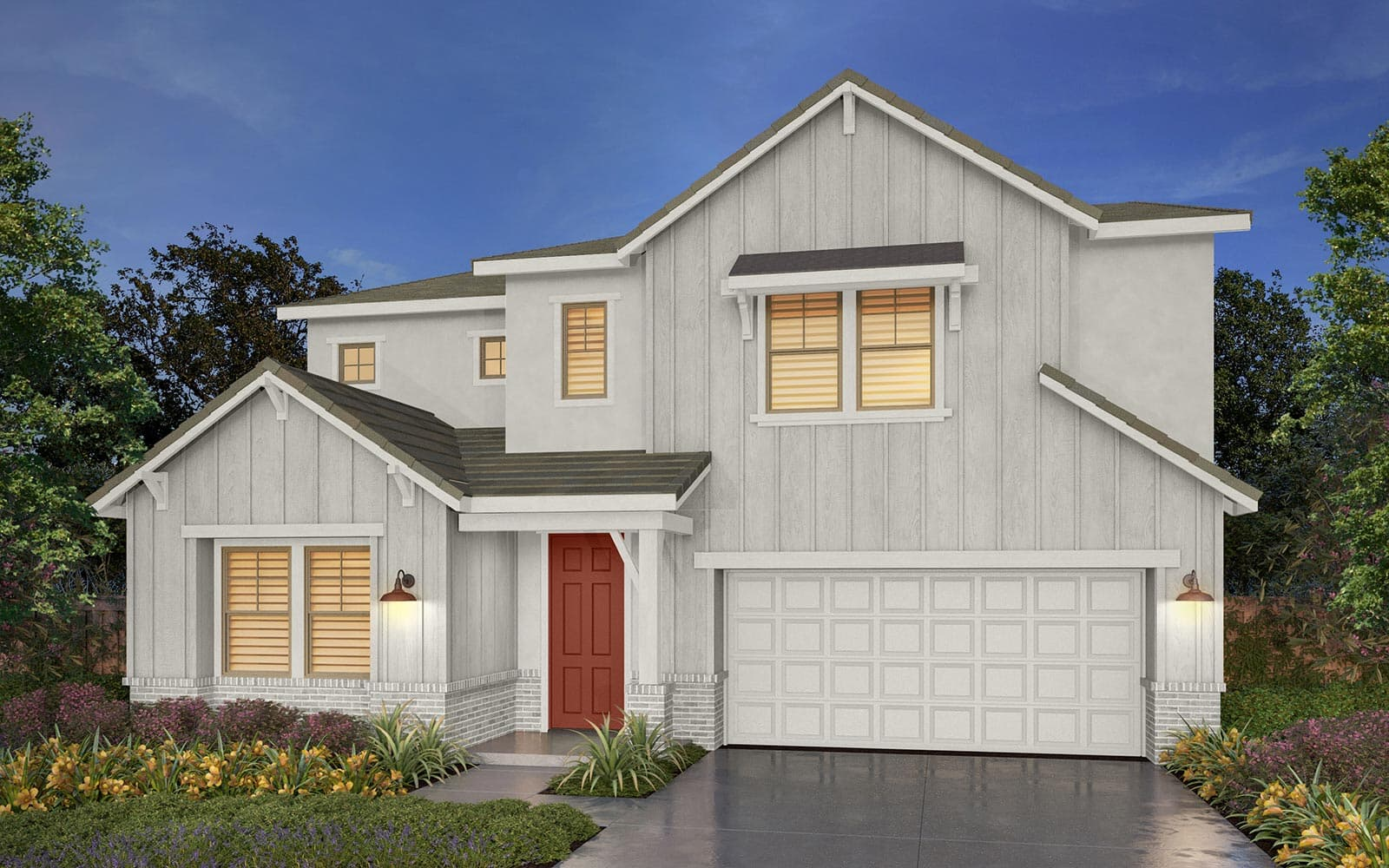 Residence 1 Rendering 5A Southport New Homes in Oakley CA Brookfield Residential