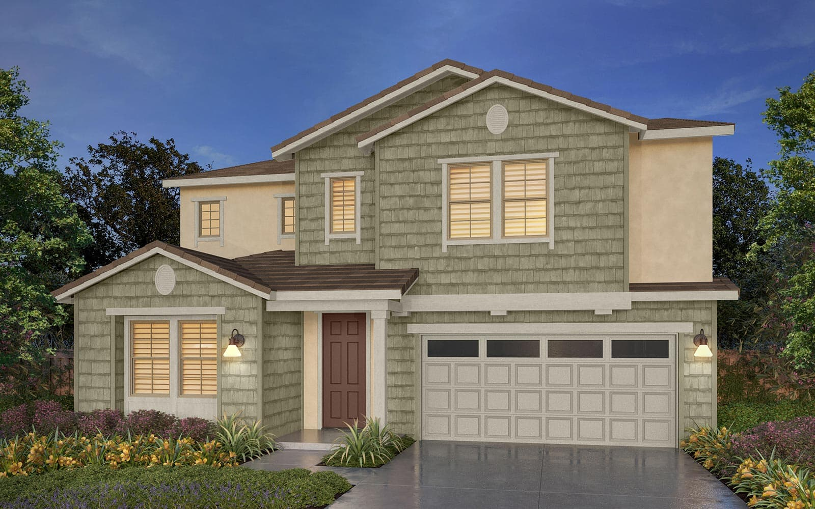Residence 1 Rendering 5F Southport New Homes in Oakley CA Brookfield Residential