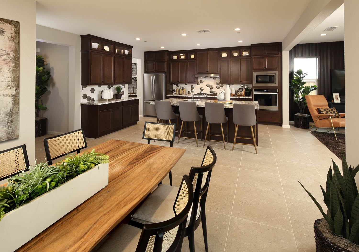 Dining Area to Kitchen | Residence 2 | Southport | New Homes in Oakley, CA | Brookfield Residential